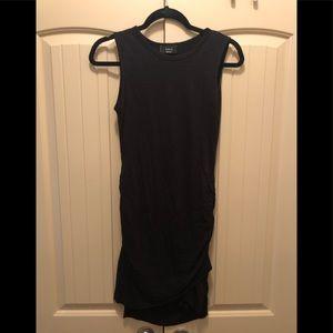 Black rouched shirt dress
